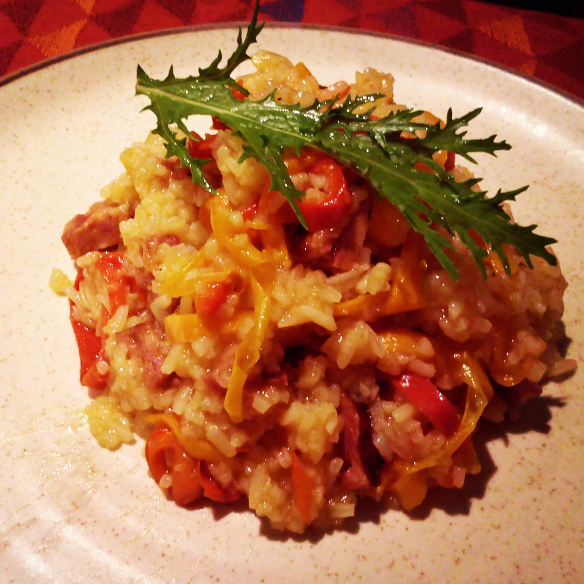 Chorizo And Sweet Pepper Risotto Quichentell
