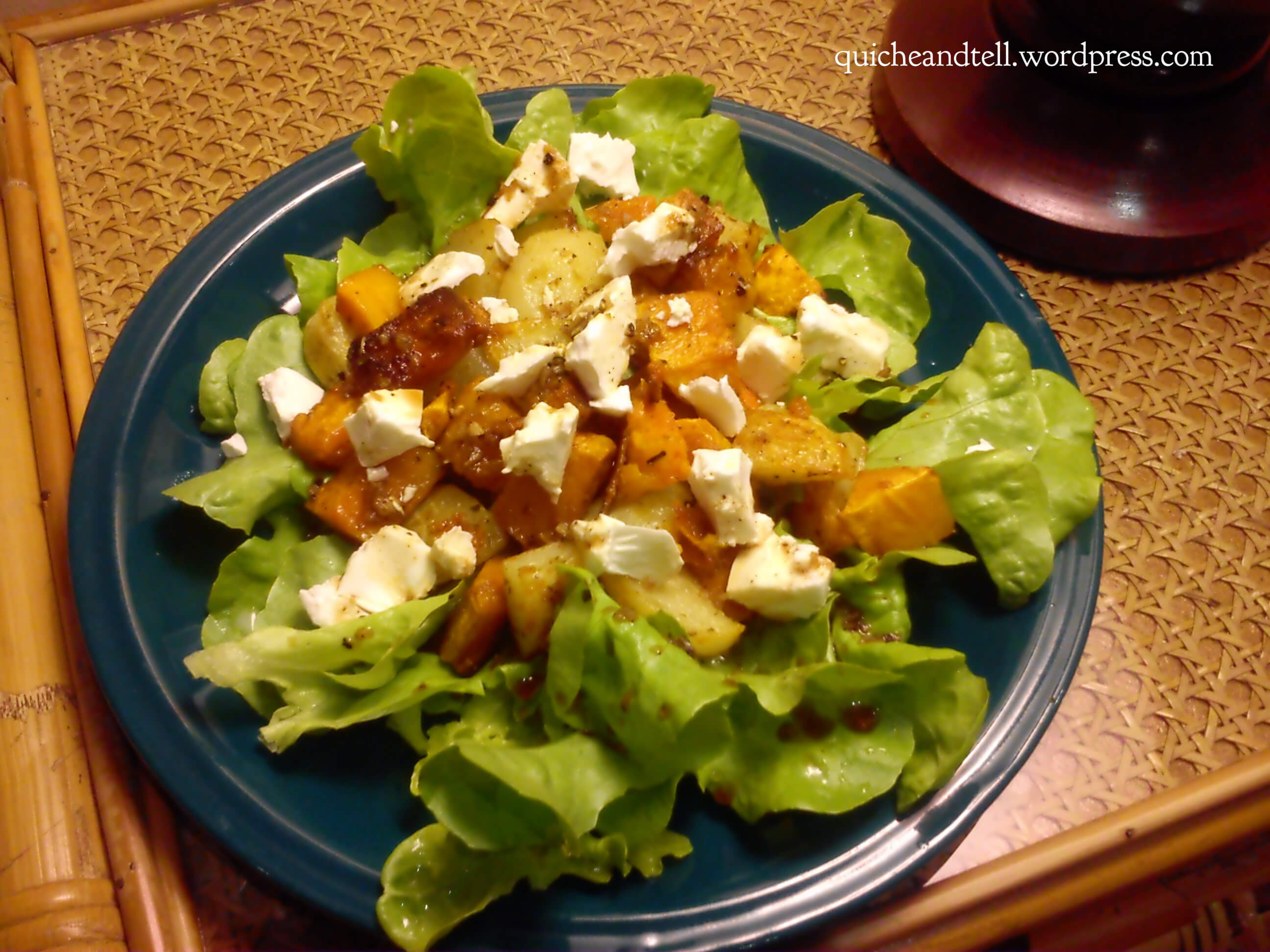 Roasted Butternut Squash, Potato and Feta Salad - Guest Post