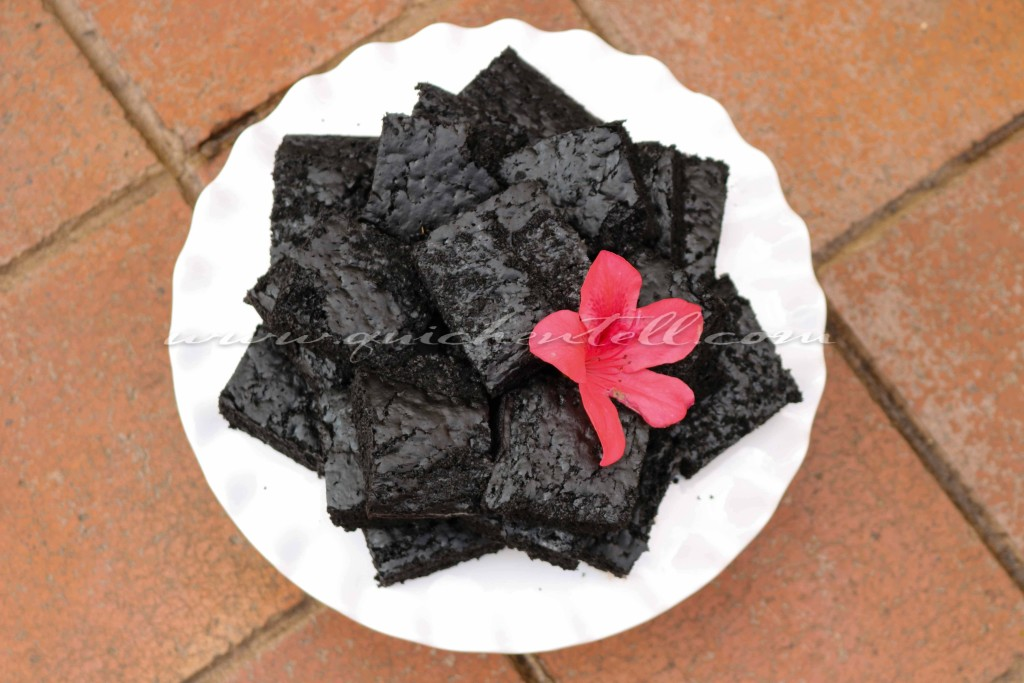 Eggless Black Cocoa Brownies / www.quichentell.com