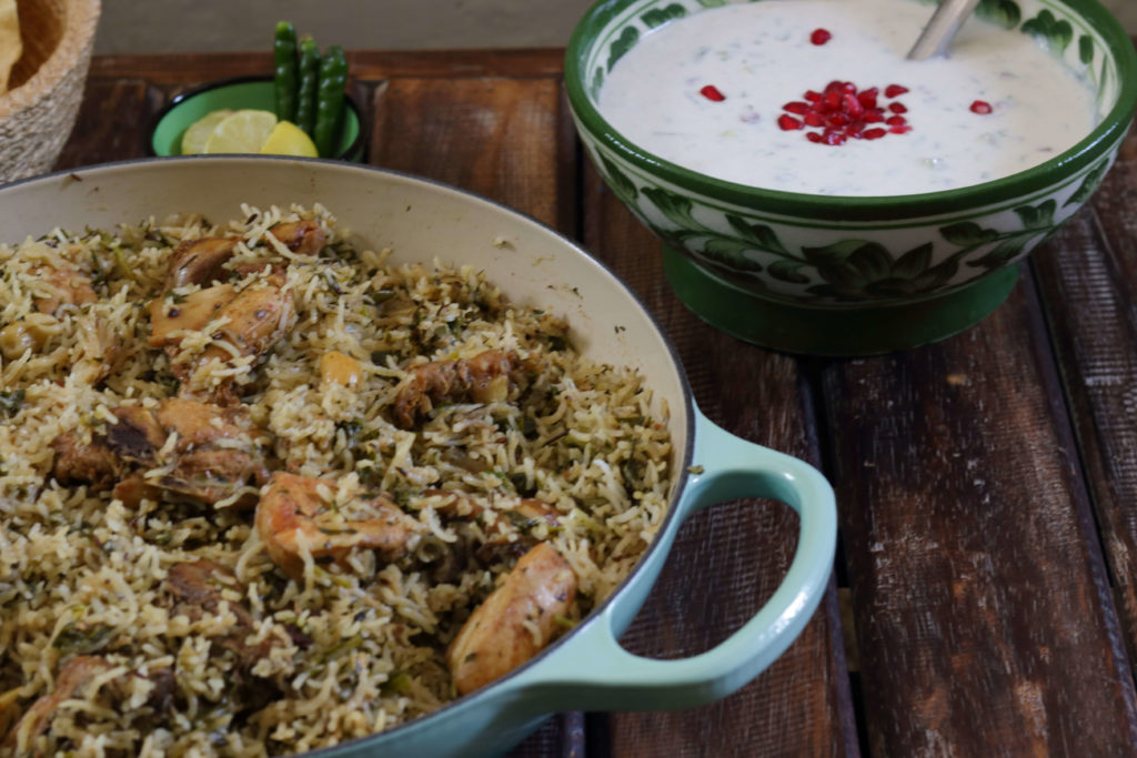 Methi Chicken Pulao (Pilaf) / www.quichentell.com