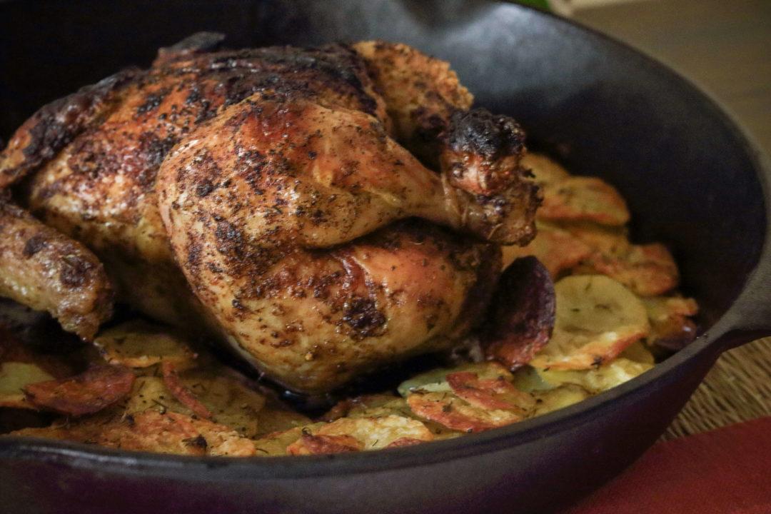 Cast Iron Roast Chicken / www.quichentell.com